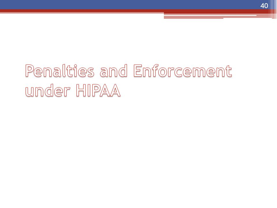 Penalties and Enforcement under HIPAA