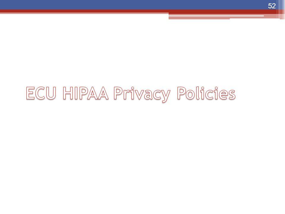 ECU HIPAA Privacy Policies