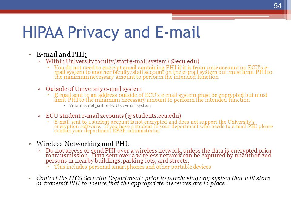 HIPAA Privacy and E-mail