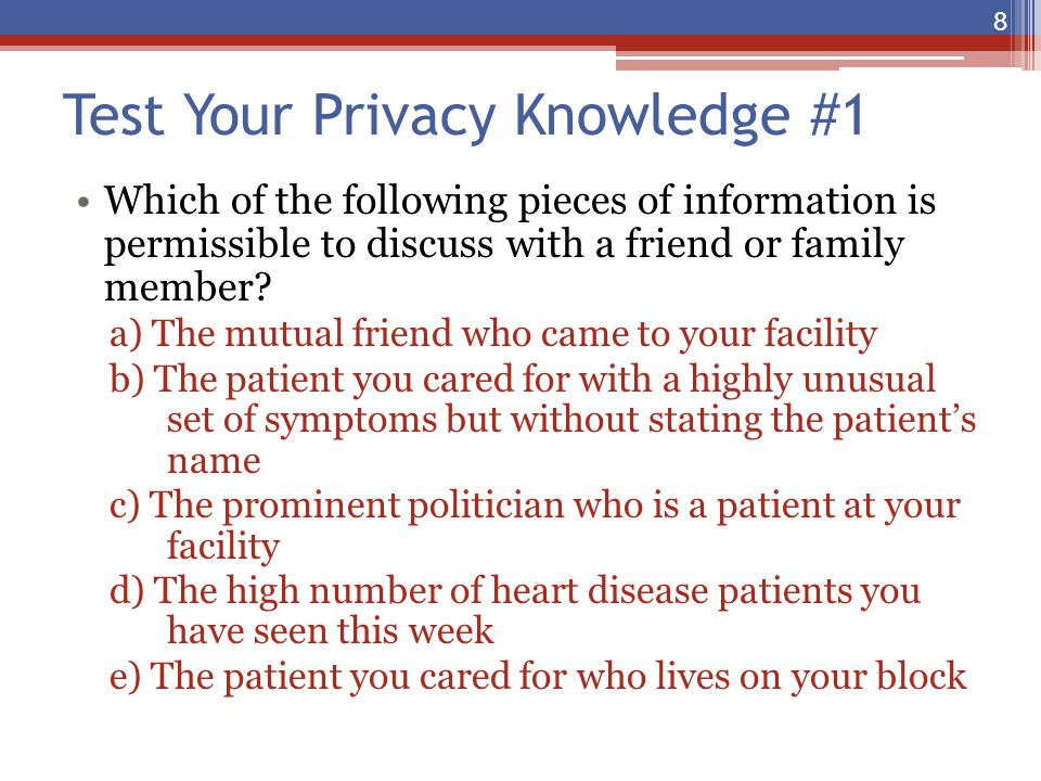 Test Your Privacy Knowledge #1