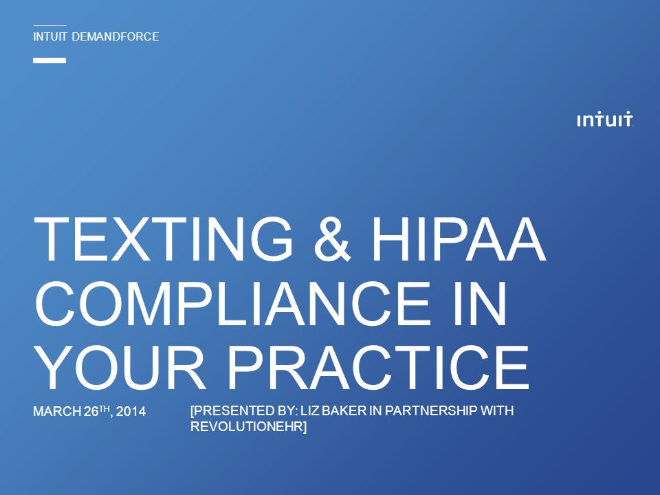 Texting & HIPAA Compliance in your practice