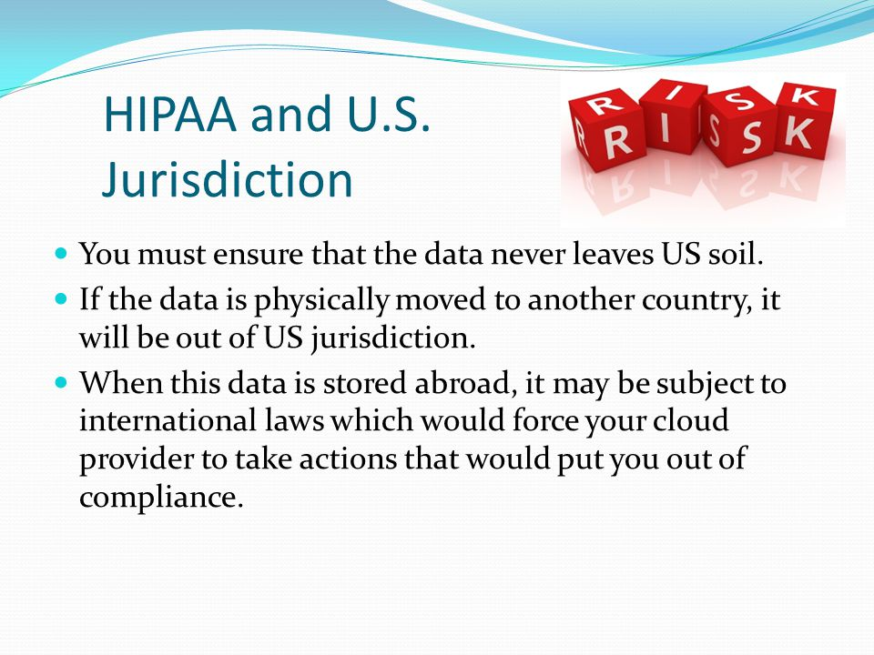 HIPAA and U.S. Jurisdiction