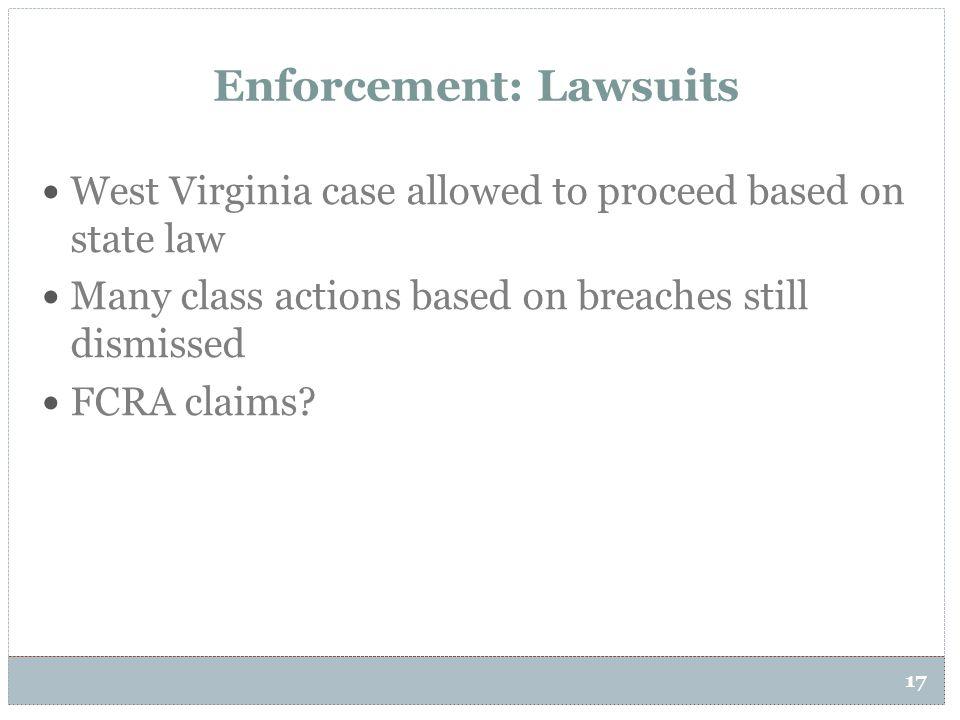 Enforcement: Lawsuits