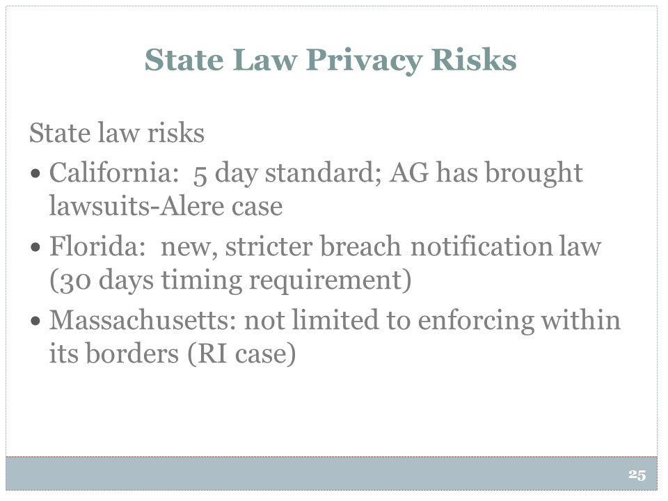 State Law Privacy Risks