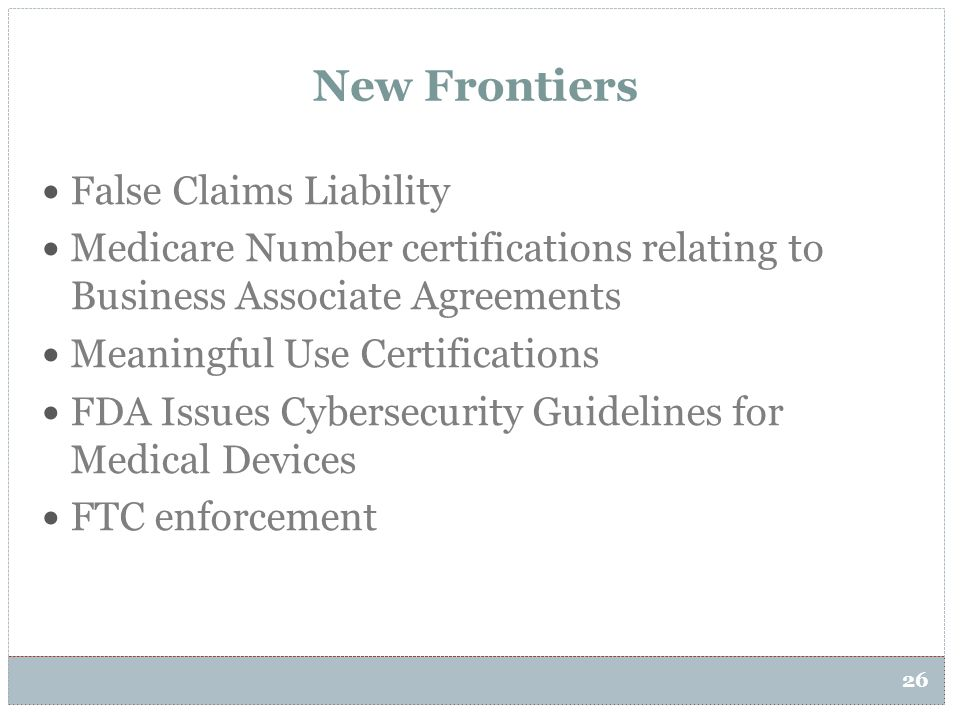 New Frontiers False Claims Liability