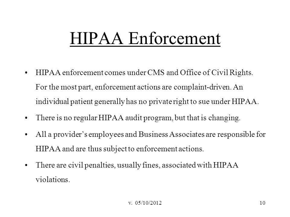 HIPAA Enforcement