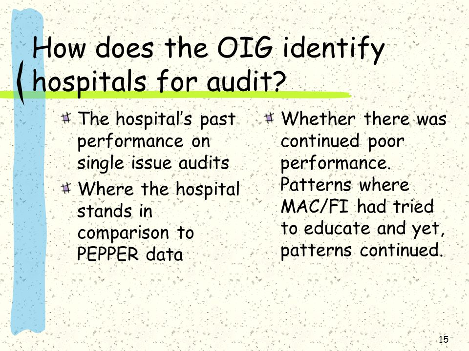 How does the OIG identify hospitals for audit