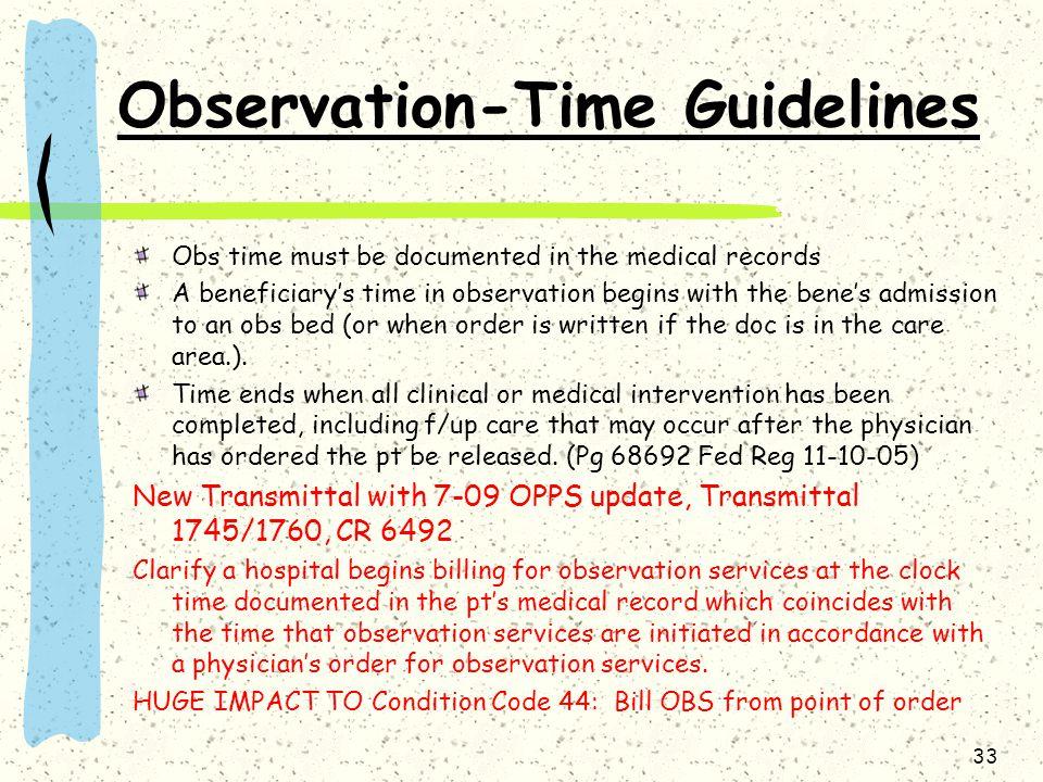Observation-Time Guidelines