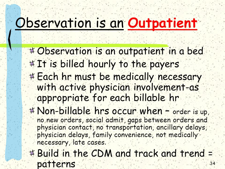 Observation is an Outpatient