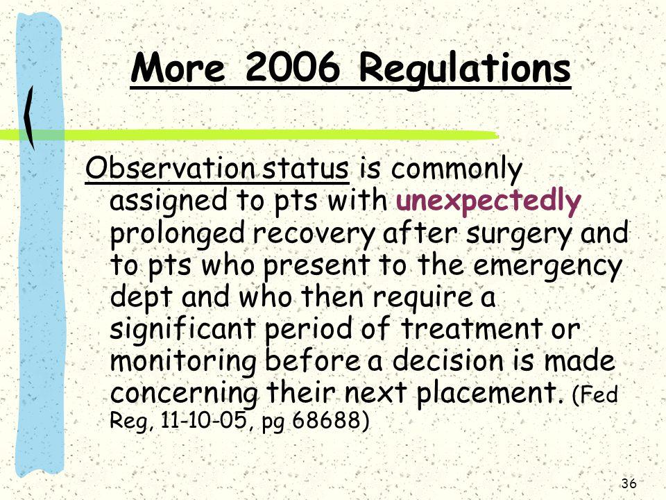 More 2006 Regulations