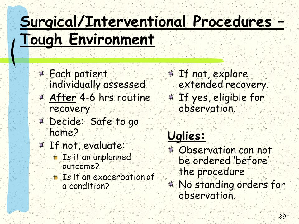 Surgical/Interventional Procedures – Tough Environment