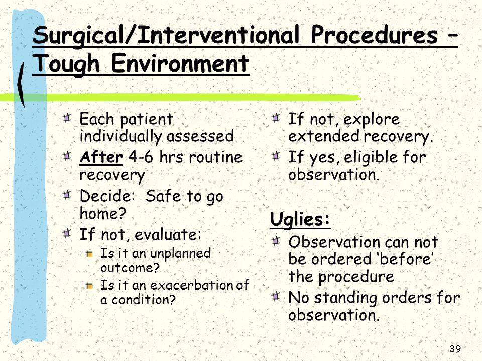 Surgical/Interventional Procedures – Tough Environment