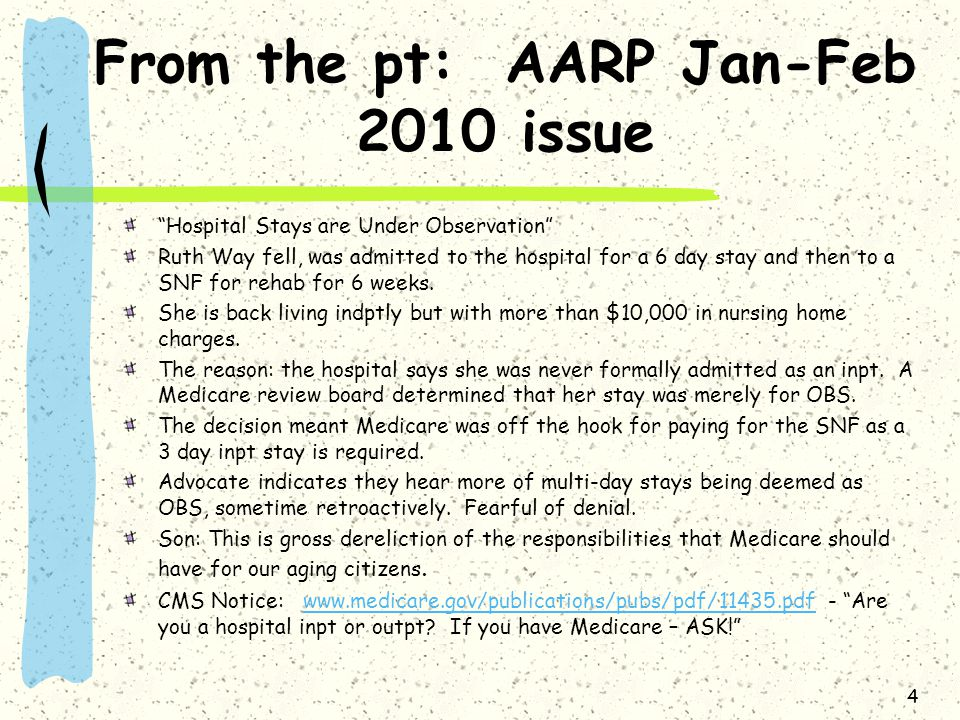 From the pt: AARP Jan-Feb 2010 issue