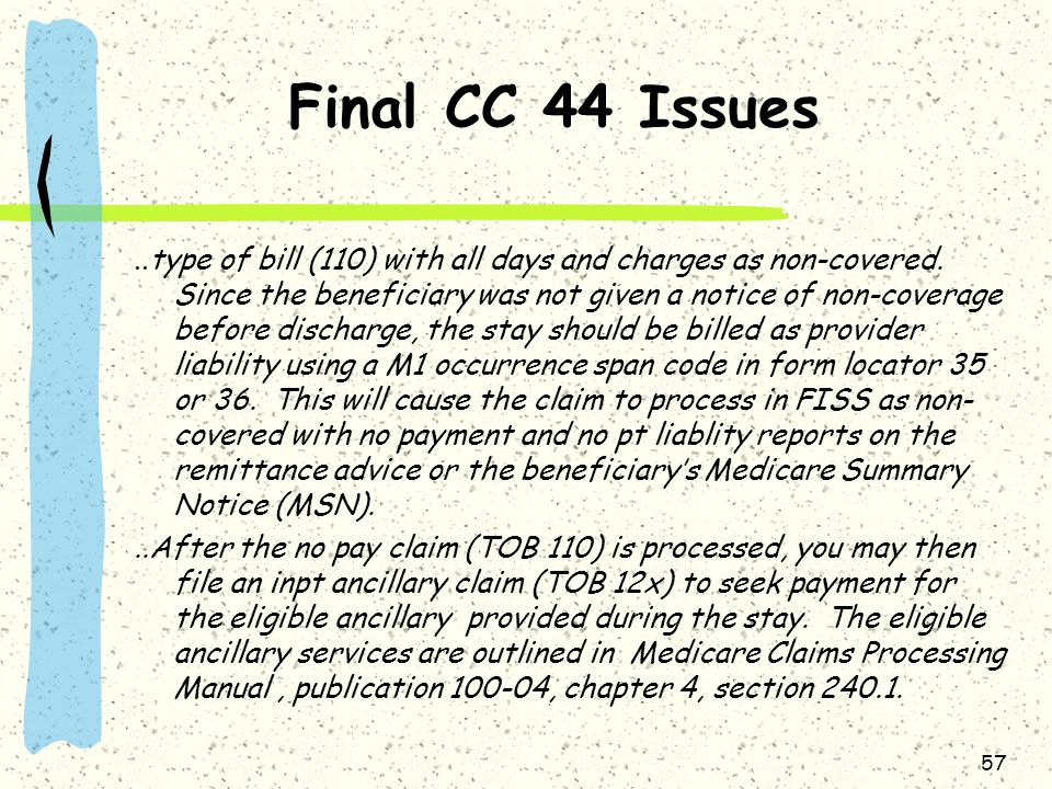 Final CC 44 Issues