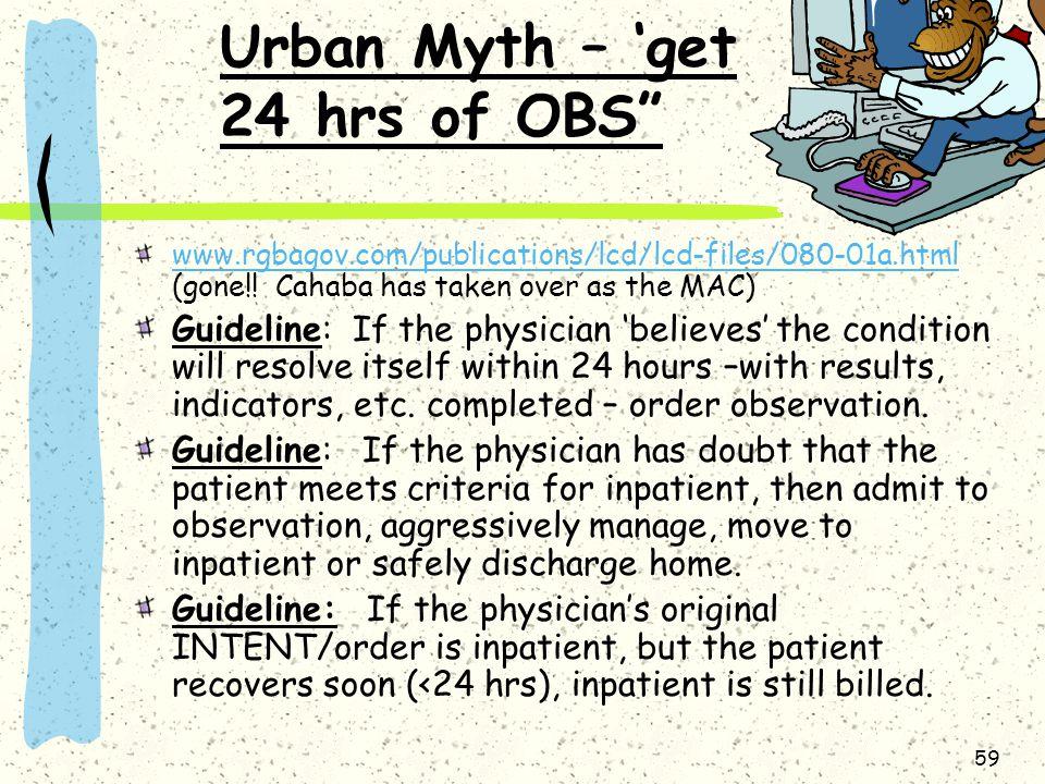 Urban Myth – 'get 24 hrs of OBS