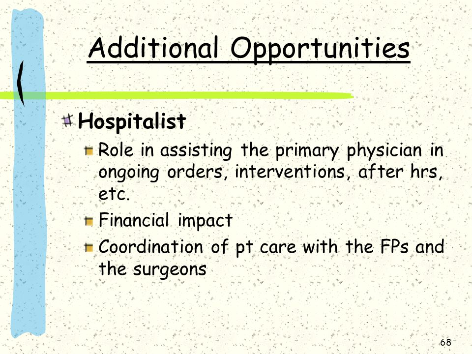 Additional Opportunities