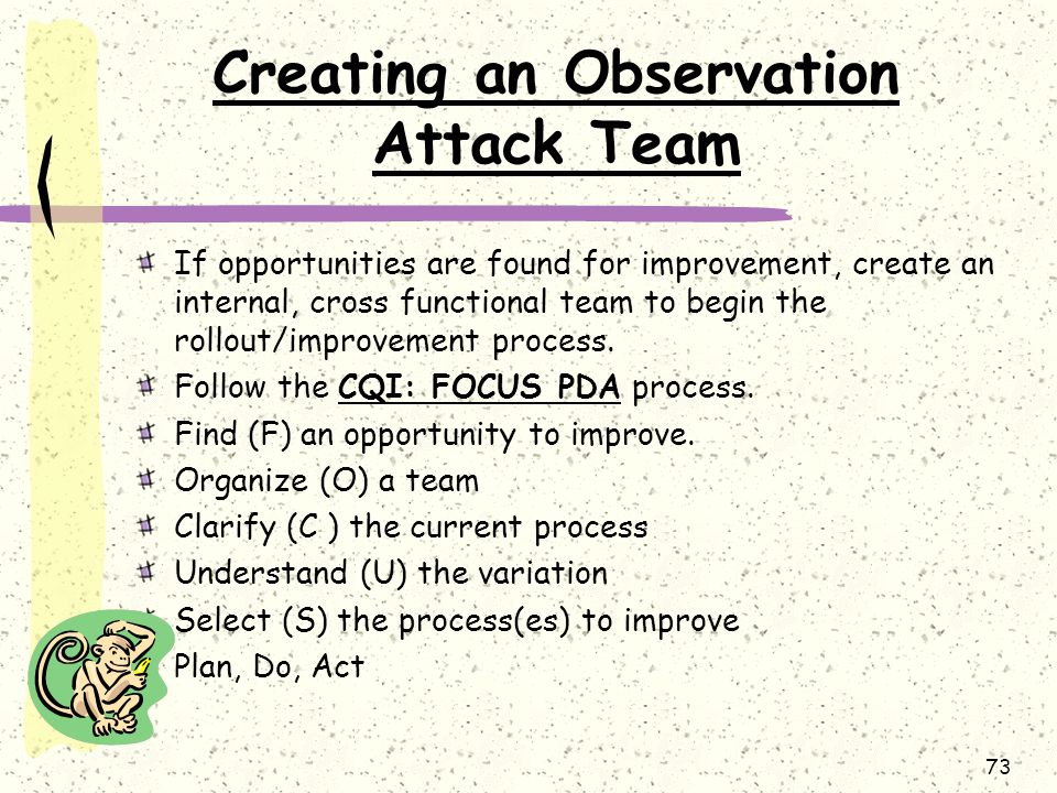 Creating an Observation Attack Team