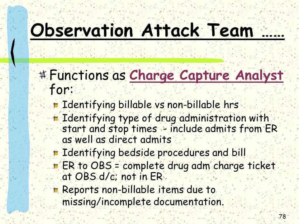 Observation Attack Team ……