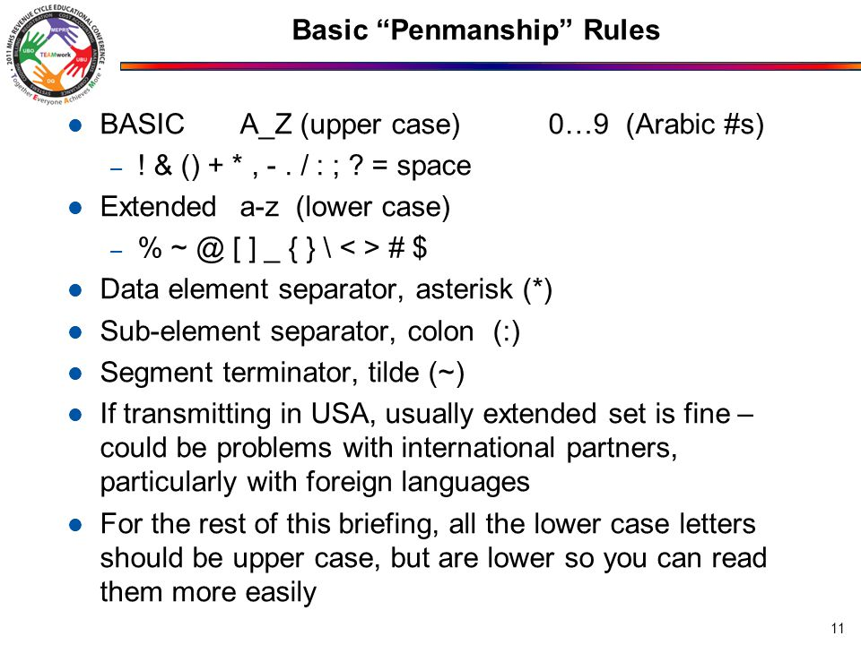 Basic Penmanship Rules