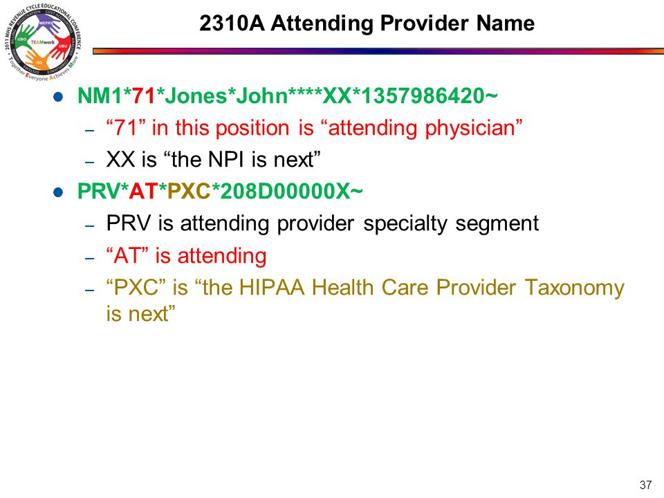 2310A Attending Provider Name