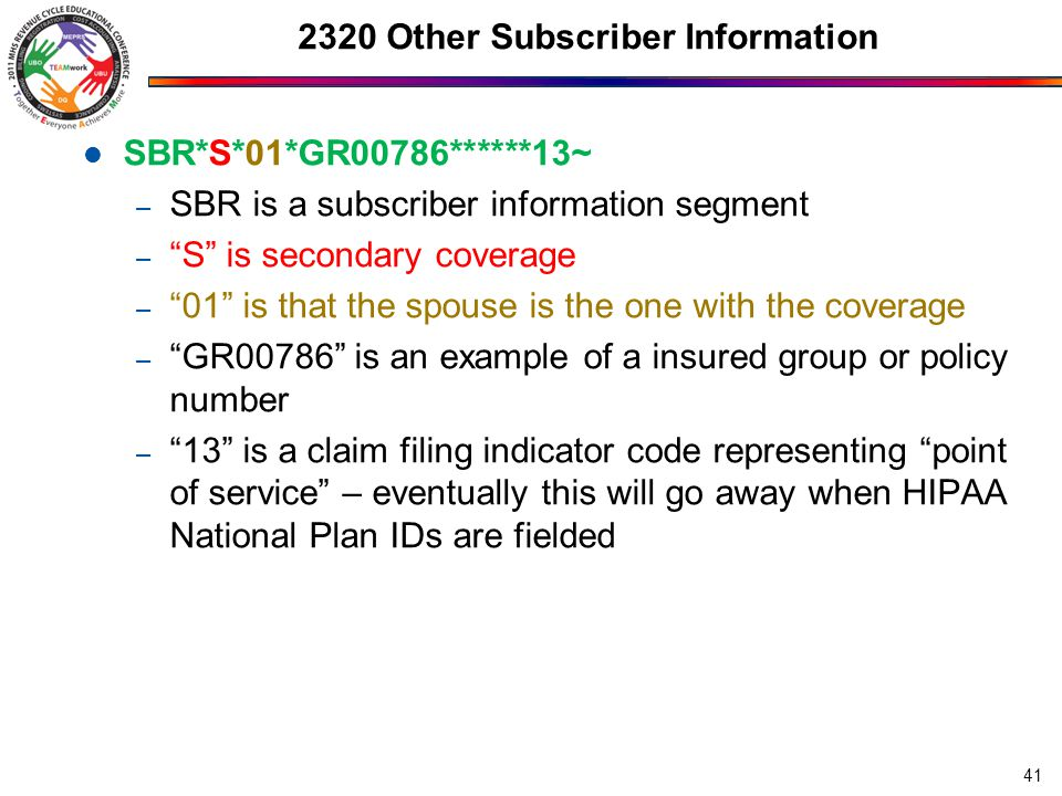 2320 Other Subscriber Information