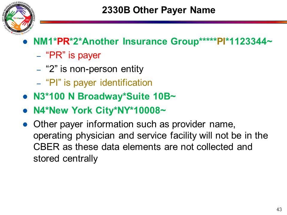 NM1*PR*2*Another Insurance Group*****PI*1123344~ PR is payer