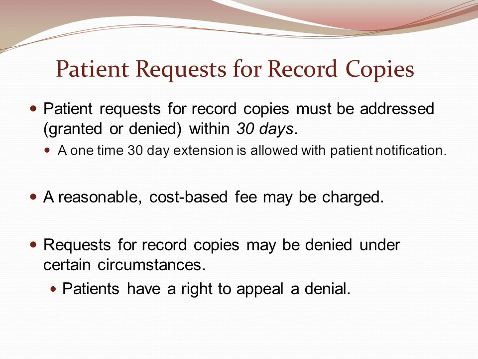 Patient Requests for Record Copies