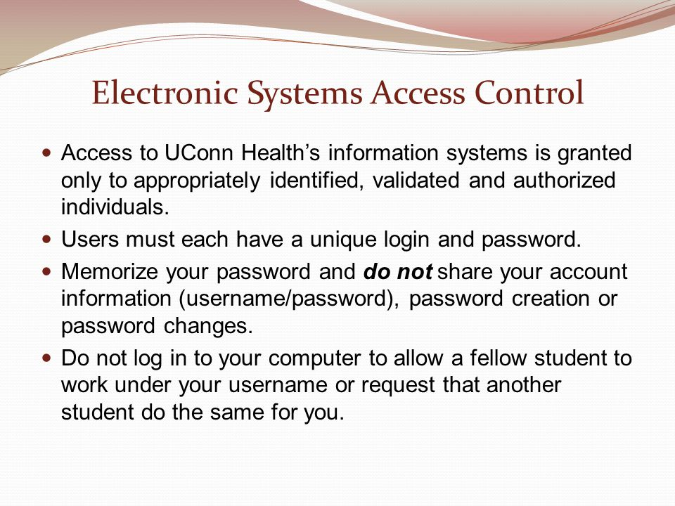 Electronic Systems Access Control