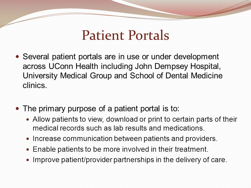 Patient Portals