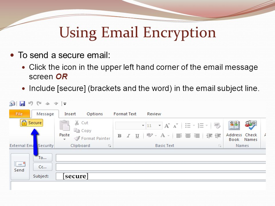 Using Email Encryption