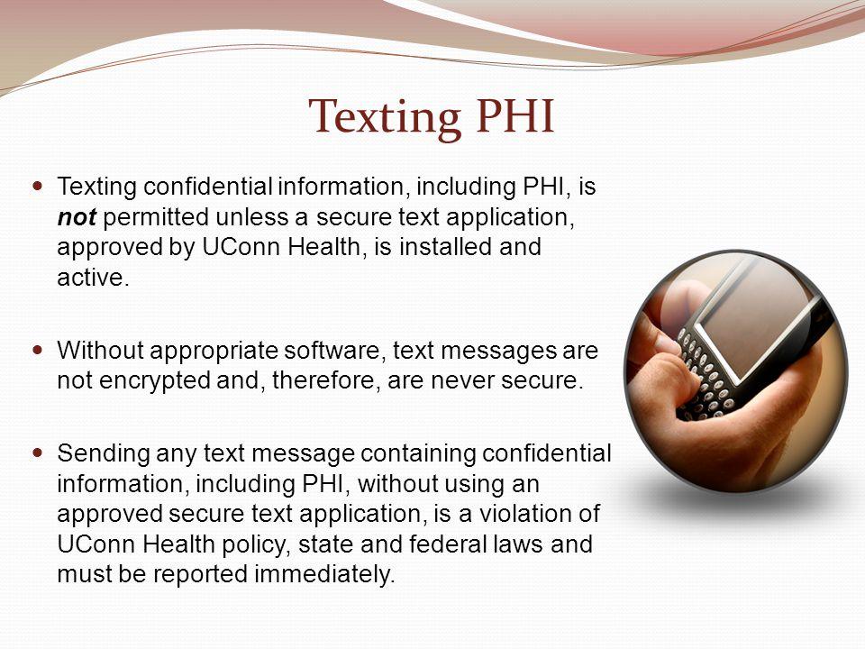 Texting PHI