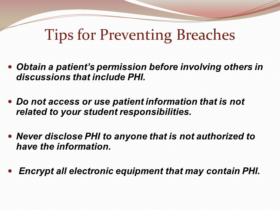Tips for Preventing Breaches