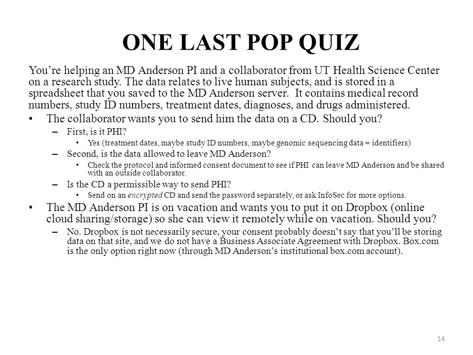 ONE LAST POP QUIZ
