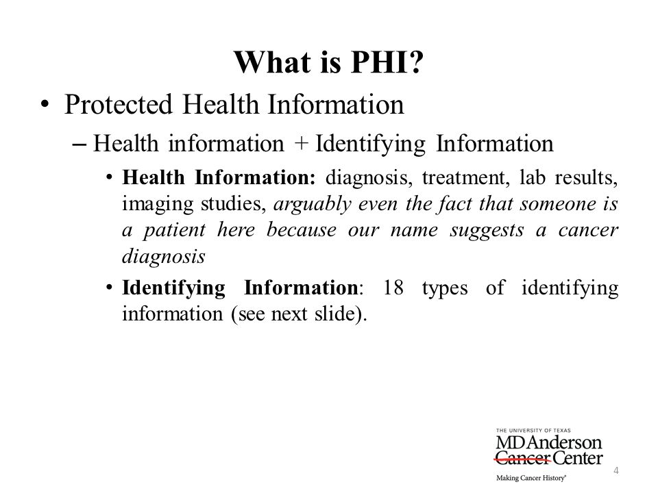 What is PHI Protected Health Information