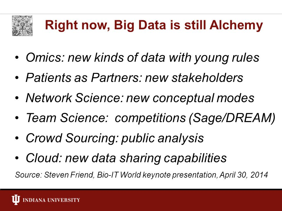 Right now, Big Data is still Alchemy