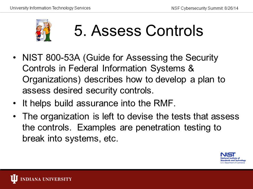 5. Assess Controls
