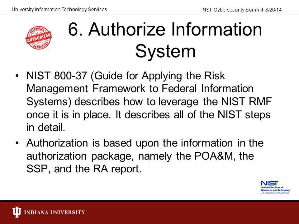 6. Authorize Information System