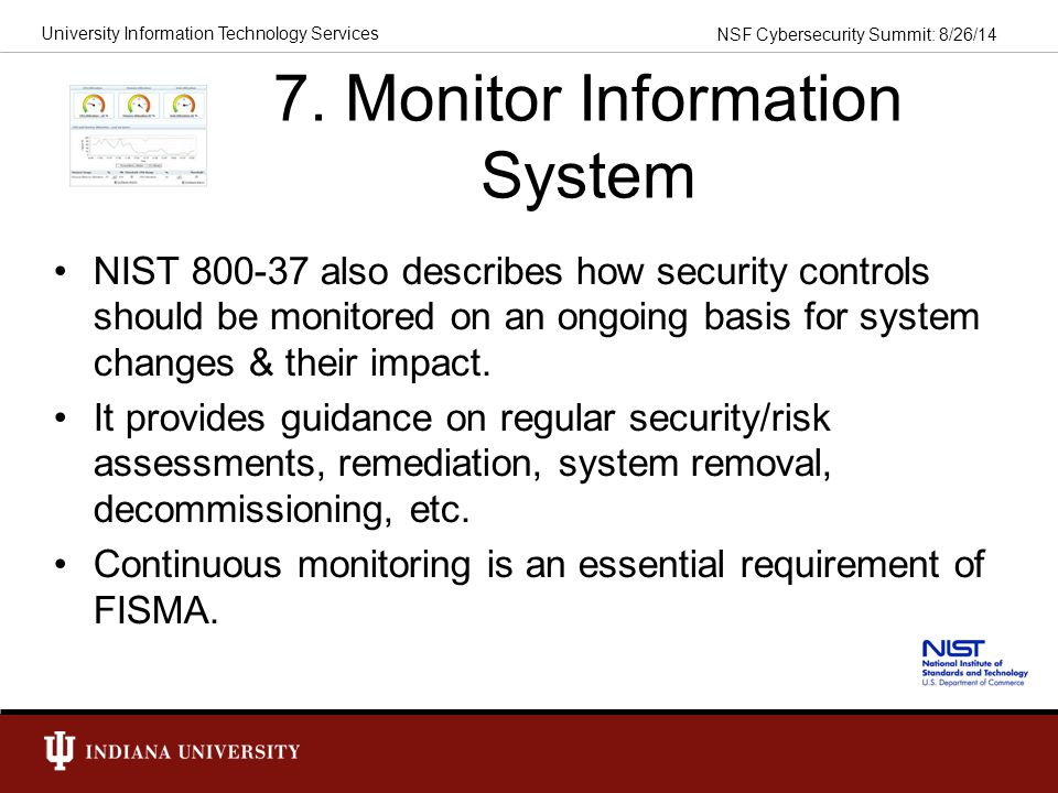 7. Monitor Information System