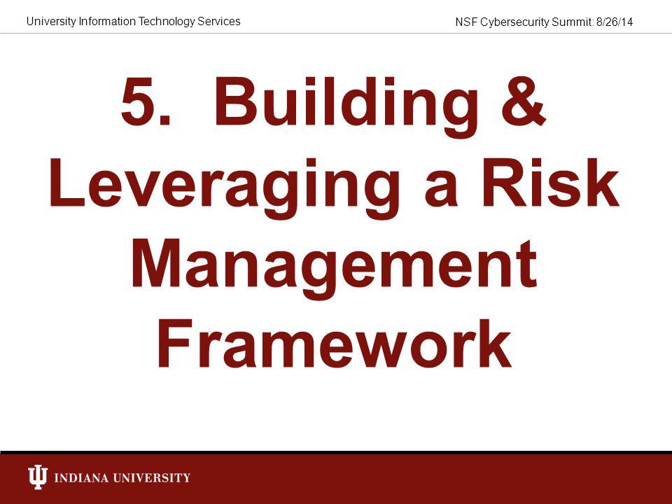 5. Building & Leveraging a Risk Management Framework