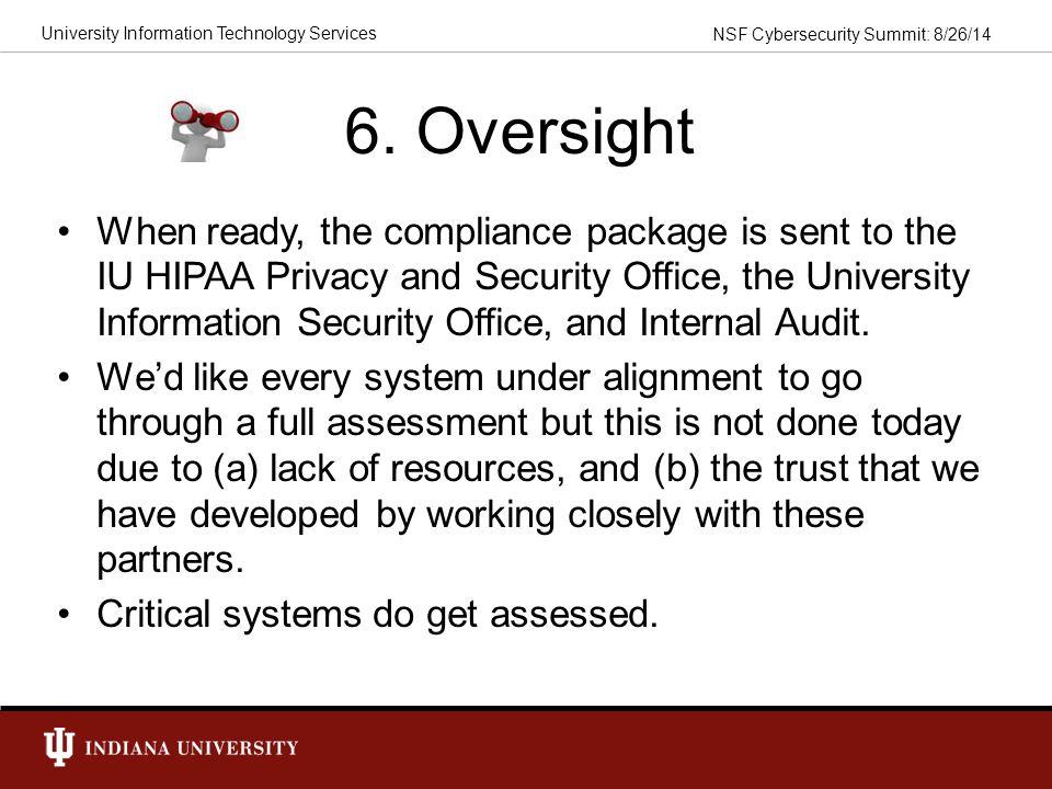 6. Oversight