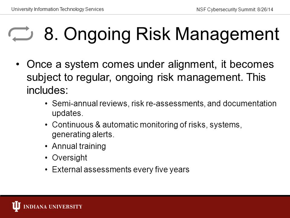 8. Ongoing Risk Management