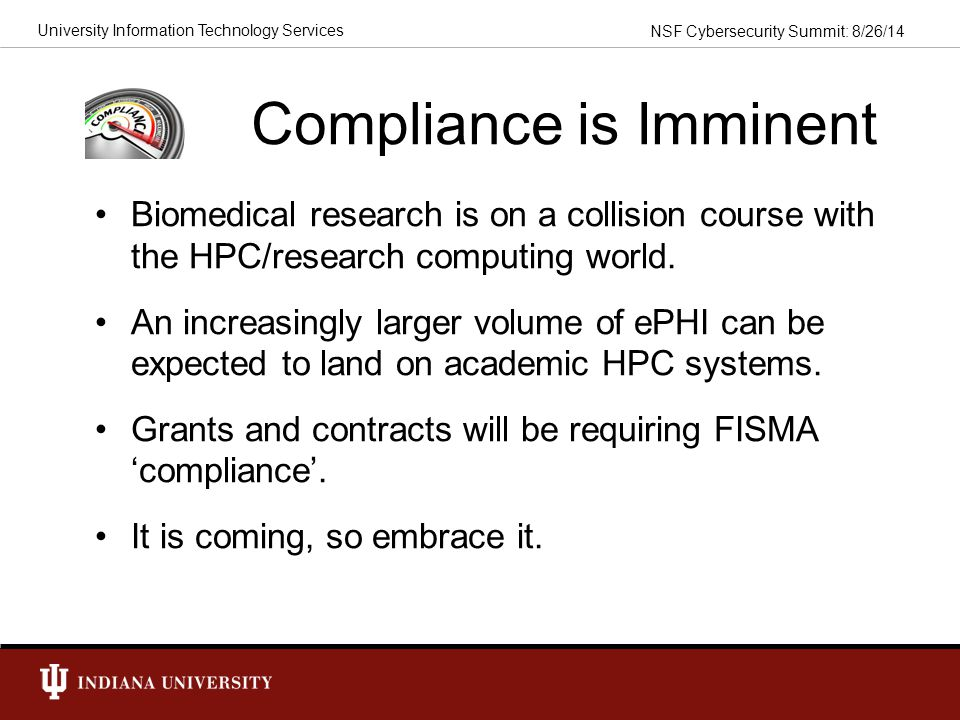 Compliance is Imminent