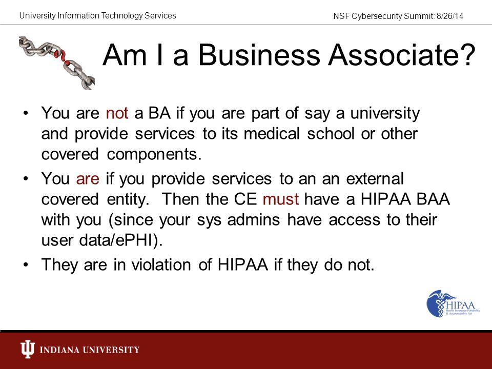 Am I a Business Associate