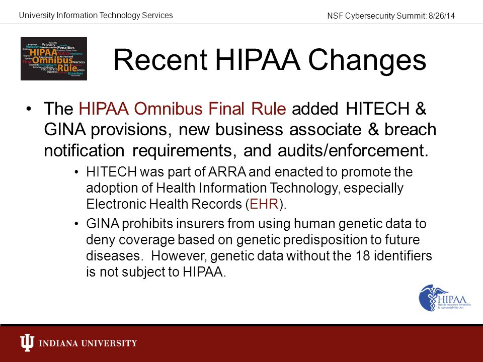 Recent HIPAA Changes