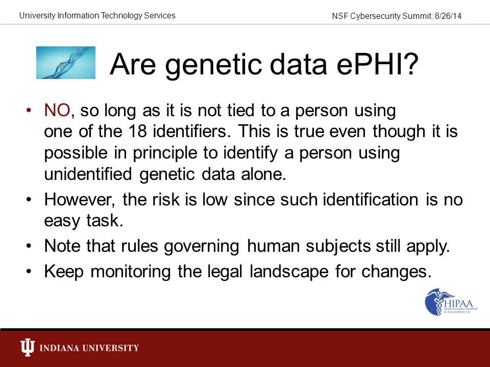 Are genetic data ePHI