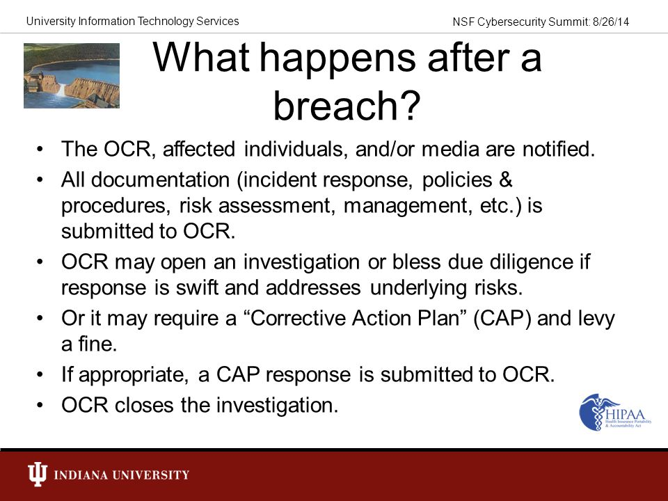 What happens after a breach