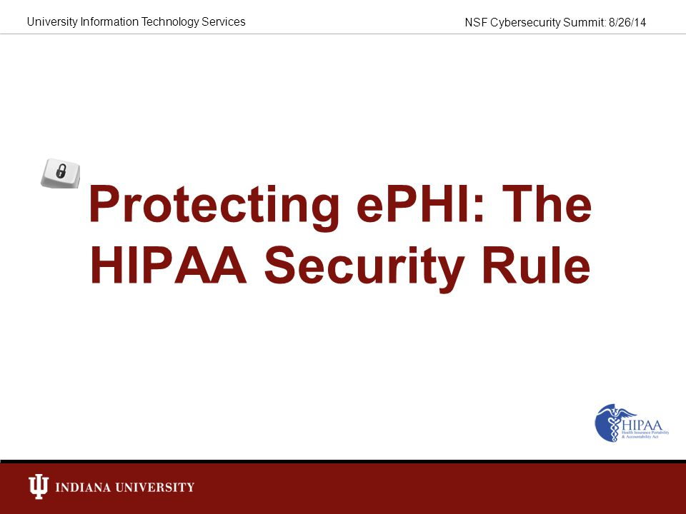Protecting ePHI: The HIPAA Security Rule