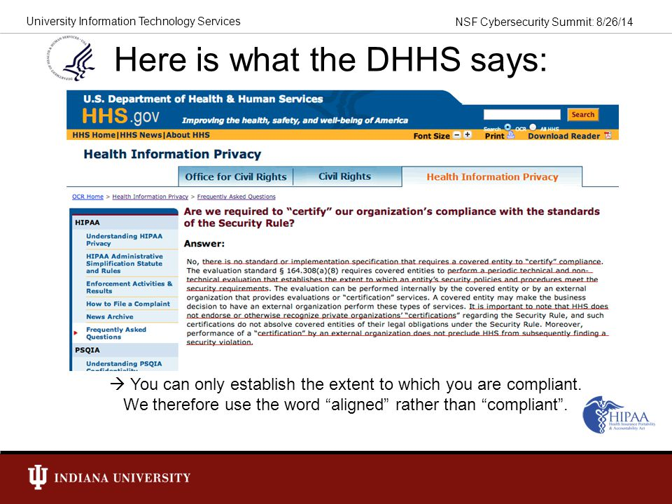 Here is what the DHHS says: