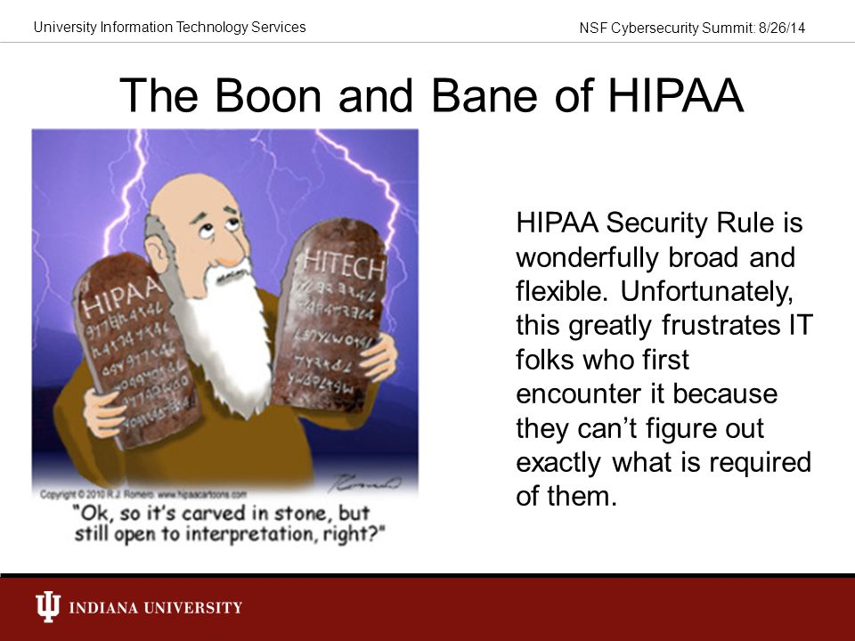 The Boon and Bane of HIPAA
