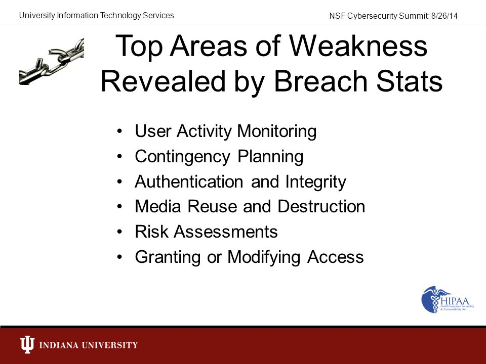 Top Areas of Weakness Revealed by Breach Stats